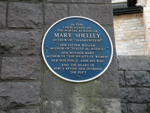 MARY SHELLEY BLUE PLAQUE
