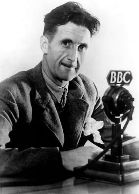 GEORGE ORWELL Orwell, George (eigentl. Eric Arthur Blair), engl. Schriftsteller, Motihari (Indien) 25.1.1903 - London 21.1.1950. Foto, um 1945.
